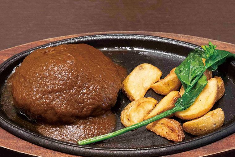 国産牛のハンバーグ(デミグラスソース)1